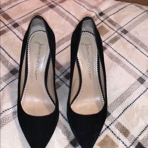 Jean-Michel Cazabat Black Penny Wedge Shoe